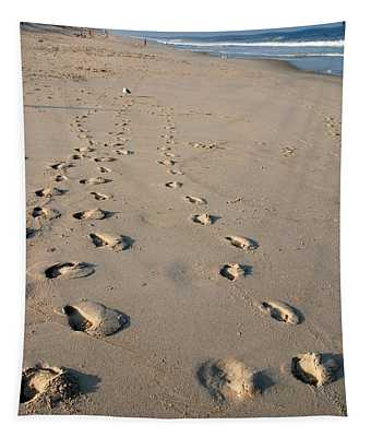 The Trails Of Footprints - Jersey Shore Tapestry