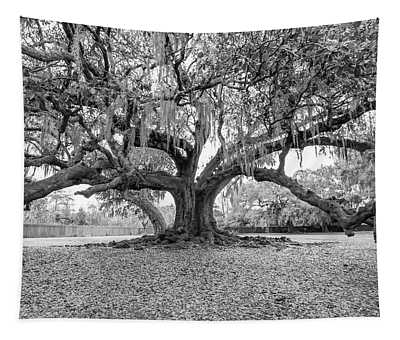 The Tree Of Life Monochrome Tapestry