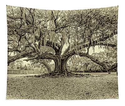 The Tree Of Life Sepia Tapestry