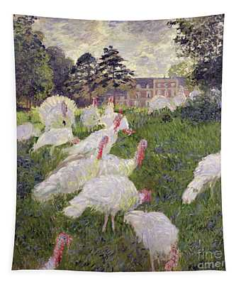The Turkeys At The Chateau De Rottembourg Tapestry