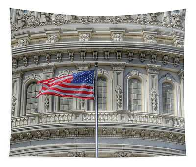The Us Capitol Building - Washington D.c. Tapestry