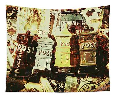 The Vintage Postage Card Tapestry