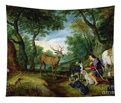 The Vision Of Saint Hubert Tapestry