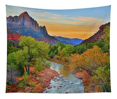 The Watchman And The Virgin River Tapestry