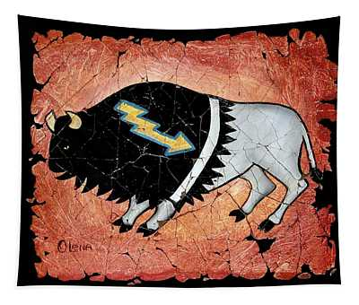 The White Sacred Buffalo Fresco Tapestry