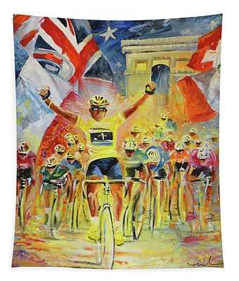 The Winner Of The Tour De France Tapestry