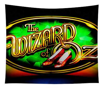 The Wizard Of Oz Casino Sign Tapestry