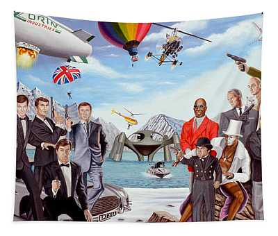 The World Of James Bond 007 Tapestry