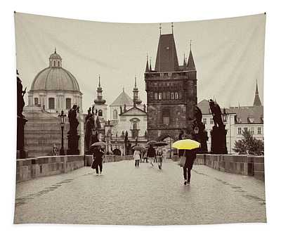 The Yellow Umbrella For Erin Tapestry