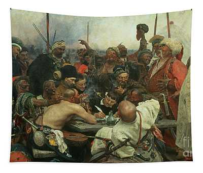 The Zaporozhye Cossacks Writing A Letter To The Turkish Sultan Tapestry