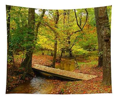 There Is Peace - Allaire State Park Tapestry