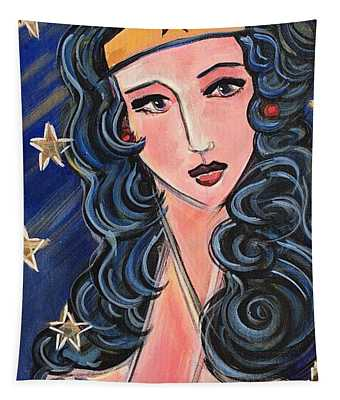 There's A Wonder Woman In Us All Tapestry