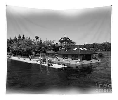 Thousand Islands In Black And White Tapestry