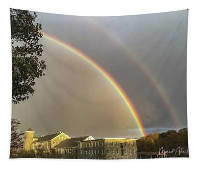 Thread City Double Rainbow  Tapestry