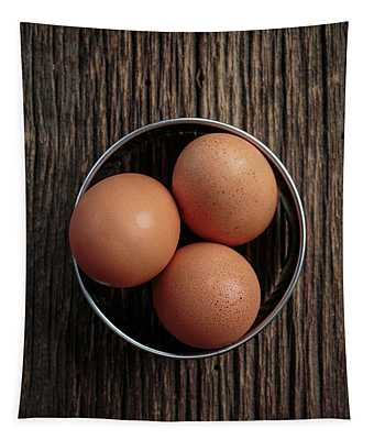 Three Brown Eggs Tapestry