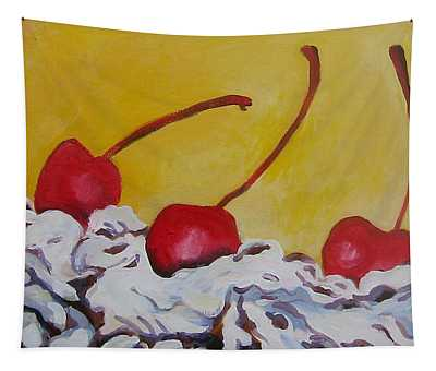 Three Cherries Tapestry