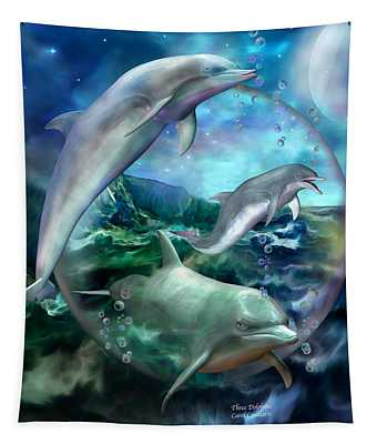 Three Dolphins Tapestry