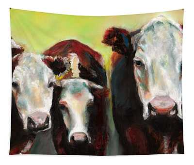 Three Generations Of Moo Tapestry