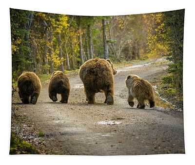 Bear Bums Tapestry