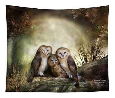 Three Owl Moon Tapestry