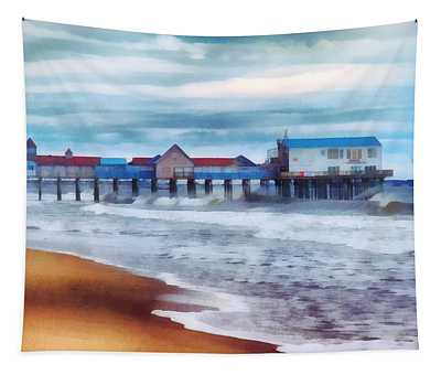 Tide Coming In Orchard Beach Maine Tapestry