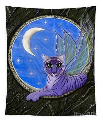 Tigerpixie Purple Tiger Fairy Tapestry