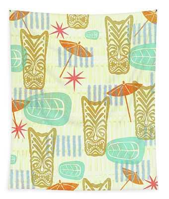 Tiki Beach Tapestry