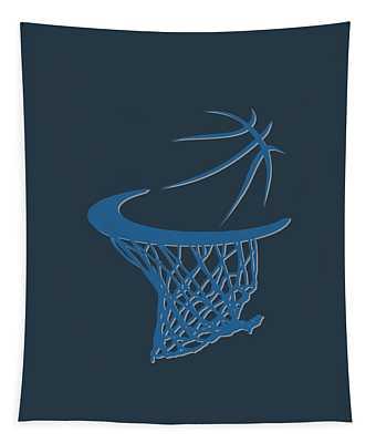 Timberwolves Basketball Hoop Tapestry
