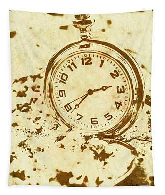 Time Worn Vintage Pocket Watch Tapestry