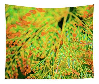Tiny Flowers Blooming  Tapestry
