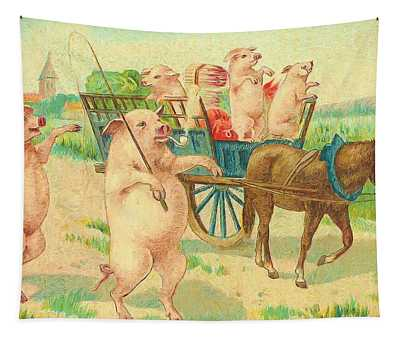 To Market To Market To Buy A Fat Pig 86 - Painting Tapestry
