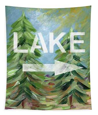To The Lake - Art By Linda Woods Tapestry