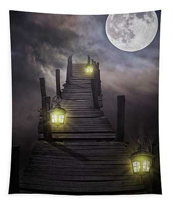 To The Moon And Back Tapestry