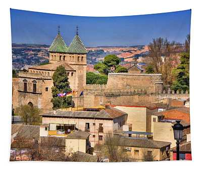 Toledo Town View Tapestry