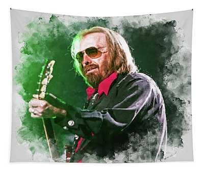 Tom Petty - 20 Tapestry by Andrea Mazzocchetti