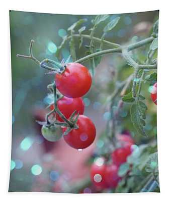 Tomato And Light Tapestry