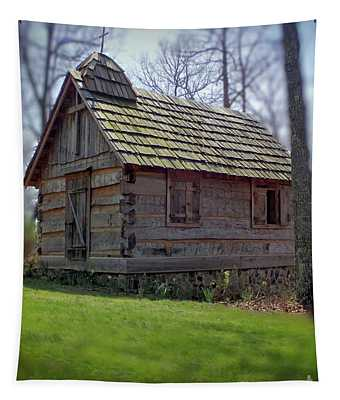 Tom's Country Church And School Tapestry