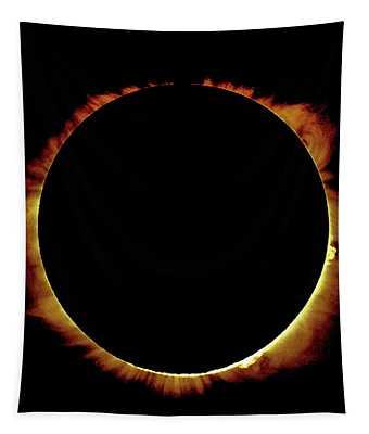 Totality Over Processed Tapestry