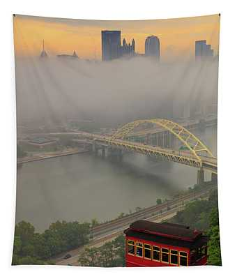 Touch Of Fog  Tapestry