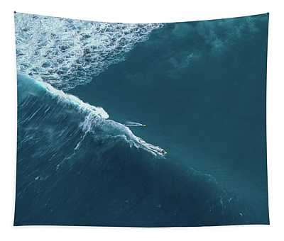Tow Surf - Sunset Beach Tapestry