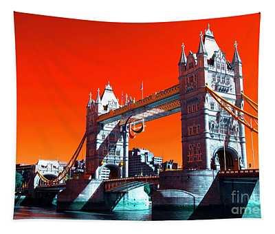 Tower Bridge Pop Art Tapestry
