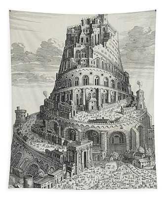 Tower Of Babylon Tapestry