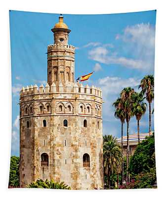 Tower Of Gold Tapestry