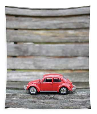 Toy Car On A Bench Tapestry