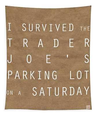 Trader Joe's Parking Lot Tapestry