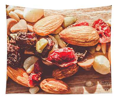 Trail Mix High-energy Snack Food Background Tapestry