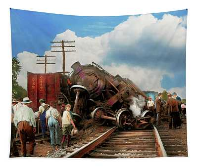 Train - Accident - Butting Heads 1922 Tapestry