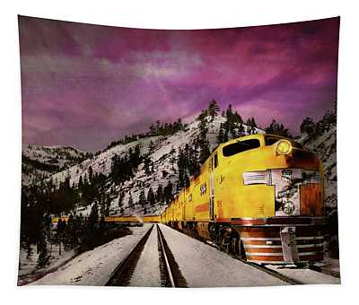 Train - Retro - Travel With Style 1940 Tapestry