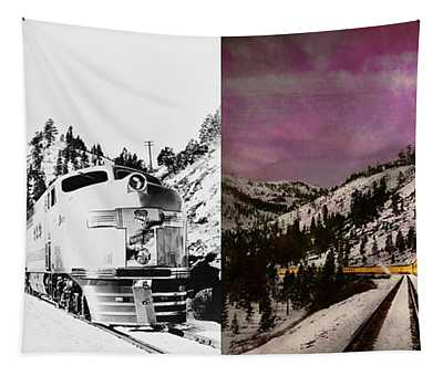 Train - Retro - Travel With Style 1940 - Side By Side Tapestry