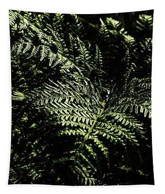 Tranquil Botanical Ferns Tapestry